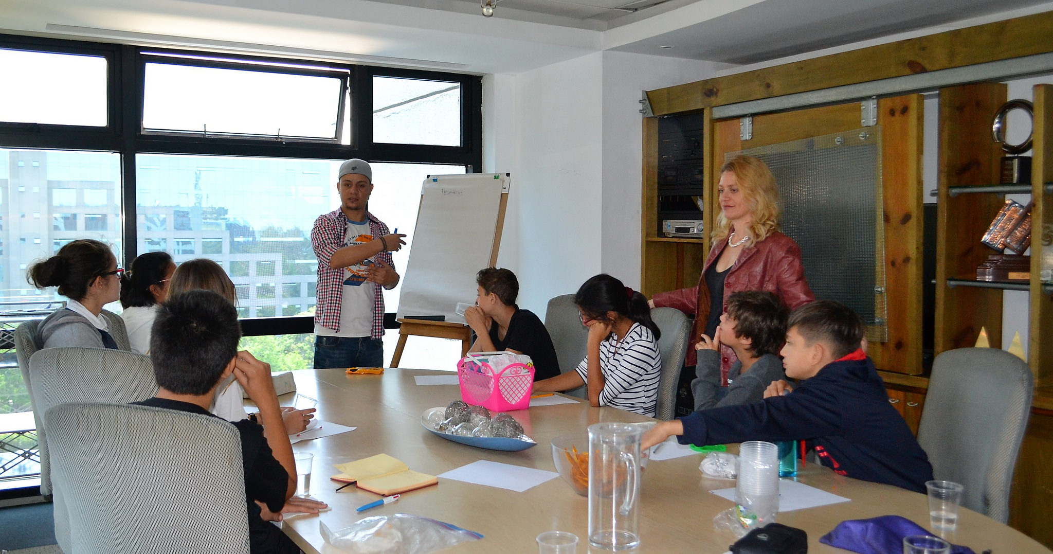 Entrepreneurship for Kids Class visiting one of the top advertising agencies in Guatemala